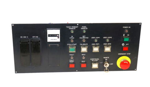 FANUC A05B-2045-C122 OPERATOR PANEL W/ A20B-1003-0040/02B BOARD, TH1346 METER