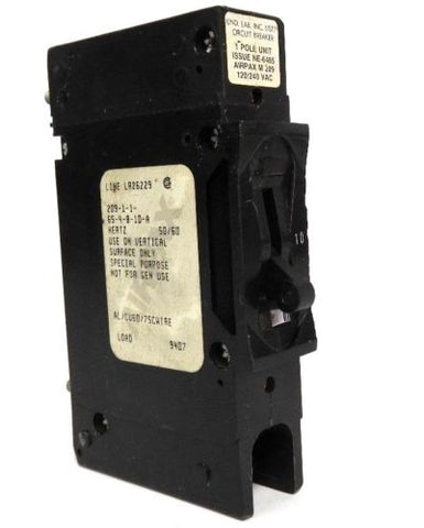AIRPAX M 209 CIRCUIT BREAKER 209-1-1-65-4-8-10-A, 50/60HZ, NE-6485, LR26229
