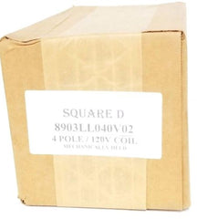 FACTORY SEALED SQUARE D 8903LL040V02 CONTACTOR 4-POLE, 120V COIL, 8903LLO40V02