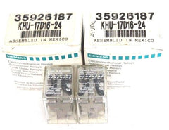 LOT OF 2 NIB SIEMENS KHU-17D16-24 RELAYS KHU17D1624, 24VDC