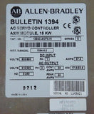 ALLEN BRADLEY 1394C-AM75-IH SERIES C AXIS MODULE 15KW MF193853 191606 REV. 11