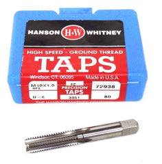 11 NIB HANSON WHITNEY M10X1.5 4 FL HIGH SPEED TAPS D-6, 72938