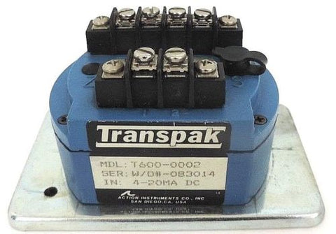 ACTION INSTRUMENTS T600-0002 TRANSPAK ISOLATOR W/O#-083014, 4-20MA DC