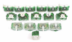 LOT OF 16 SQUARE D 9001-KA-2 FINGERSAFE CONTACT BLOCKS SER J, 9001KA2