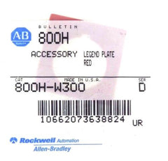 8 NIB ALLEN BRADLEY 800H-W300 SER. D RED LEGEND PLATE ASSEMBLY 800HW300
