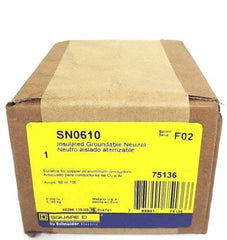 F/S SQUARE D SN0610 INSULATED GROUNDABLE NEUTRAL SER. F02, 60 OR 100 AMPS, 75136