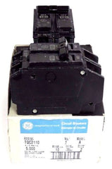 2 GENERAL ELECTRIC TQC2110 CIRCUIT BREAKERS MODEL A, 10A, 120/240VAC, 2 POLE