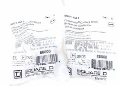 LOT OF 2 NEW SQUARE D 9001KA1 FINGERSAFE CONTACT BLOCKS 9001-KA1, SER. K