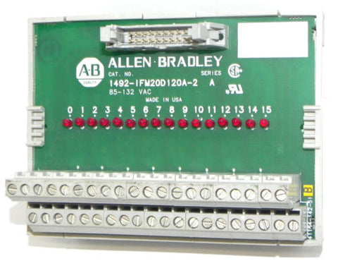 ALLEN BRADLEY 1492-IFM20D-120A-2 20-POINT DIGITAL IFM, 85-132 VAC SERIES A