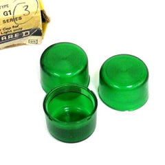 BOX OF 3 NEW SQUARE D 9001-G1 PLASTIC GREEN CAPS 9001G1