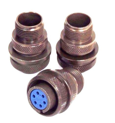 3 NEW AMPHENOL 973106A14S6S CIRCULAR CONNECTORS 14S