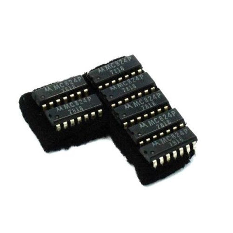 (7) NEW MOTOROLA MC824P IC CHIP LOGIC GATE CIRCUIT QUAD 2-INPUT DIP 14PIN 7818