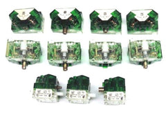 LOT OF 11 SQUARE D 9001-KA-2 FINGERSAFE CONTACT BLOCKS SER J, 9001KA2