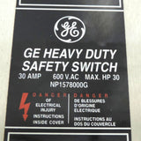 GE SAFETY SWITCH THN3361SS 600V 30V 3 POLE ENCLOSURE MODEL 12 STAINLESS STEEL