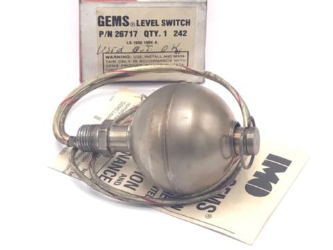 GEMS 26717 LIQUID LEVEL SWITCH