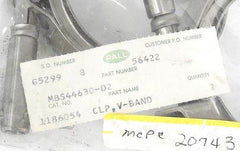 2 NEW PALL MBS44630-D2 V-BAND COUPLING CLAMPS MBS44630D2