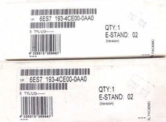 LOT OF 2 F/S SIEMENS 6ES7 193-4CE00-0AA0 TERMINAL MODULES VERSION E-STAND: 02