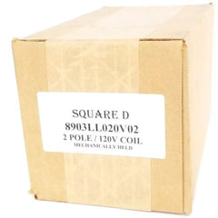 FACTORY SEALED SQUARE D 8903LL020V02 CONTACTOR 2-POLE, 120V COIL, 8903LLO20V02