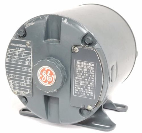 GENERAL ELECTRIC 5K42FG1967 AC MOTOR 1/4HP, 60/50HZ, 110/220V, 1725/1425RPM