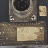 ACCU CODER 711-S SHAFT ENCODER CYCLES PER REV. 120, 5/28 VDC, 711S
