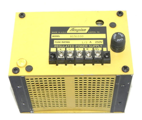 ACOPIAN B15G100 REGULATED POWER SUPPLY 1/2A 250V