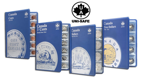 Uni-Safe Coin Folders for Canada