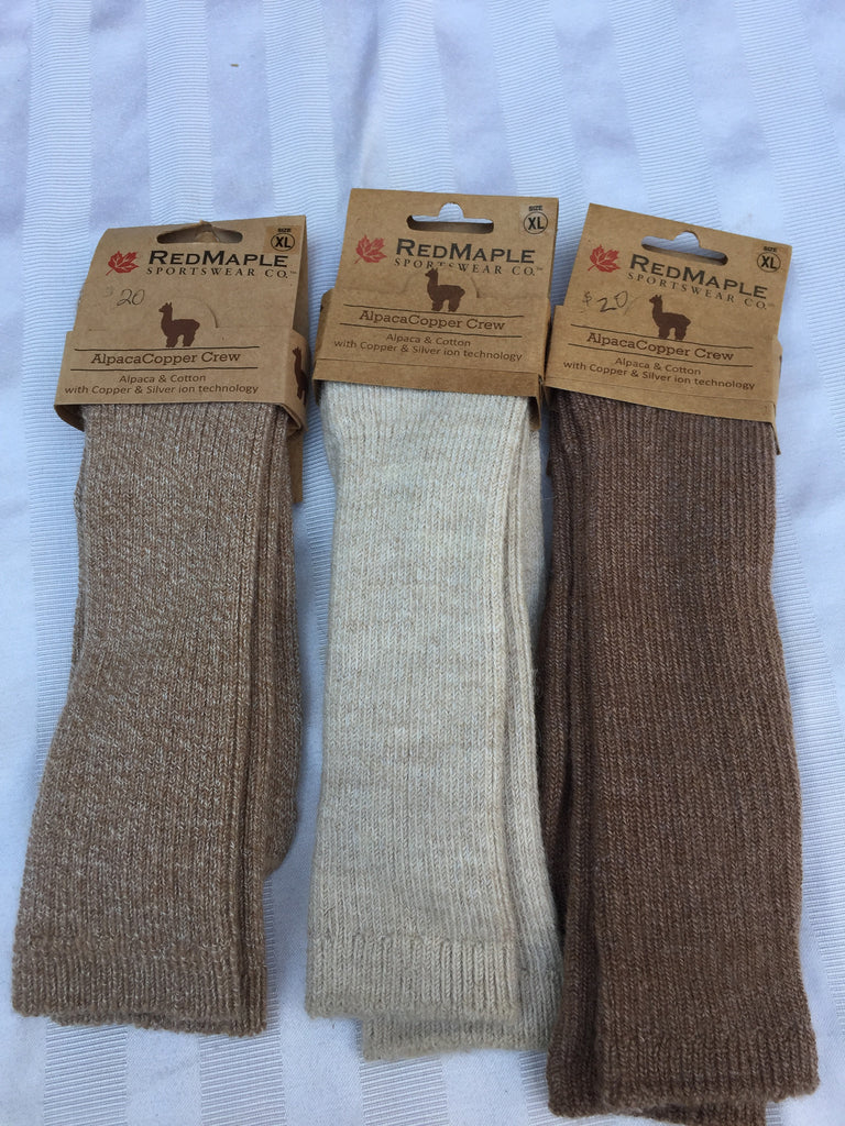 Red Maple Copper Crew socks