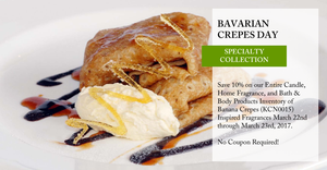 National Bavarian Crepes Day - Save 10%