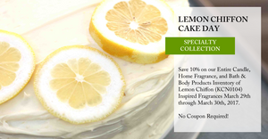 National Lemon Chiffon Cake Day - Save 10%