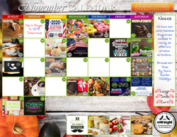 OverSoyed Fine Organic Products - November 2020 Marketing Calendar