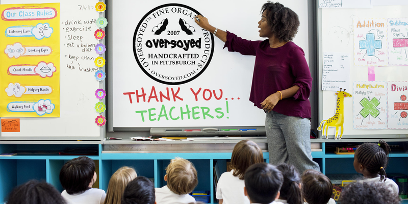 OverSoyed Fine Organic Products - Happy World Teachers' Day