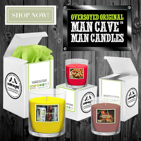 Hand Poured Soy Tumbler Candles - OverSoyed Original Man Cave™ Collection