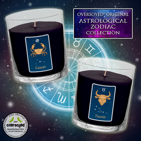 OverSoyed Fine Organic Products - Zodiac Astrological Sign Hand Poured Soy Glass Tumbler Candle Collection