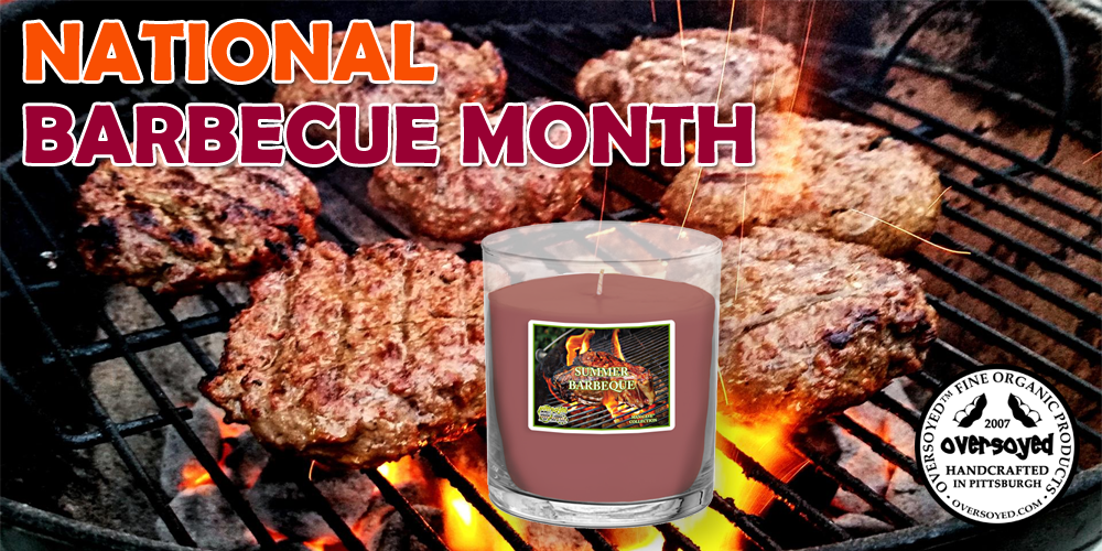 National Barbecue Month - BEST SELLING OverSoyed Summer Barbeque Man Cave Man Candle
