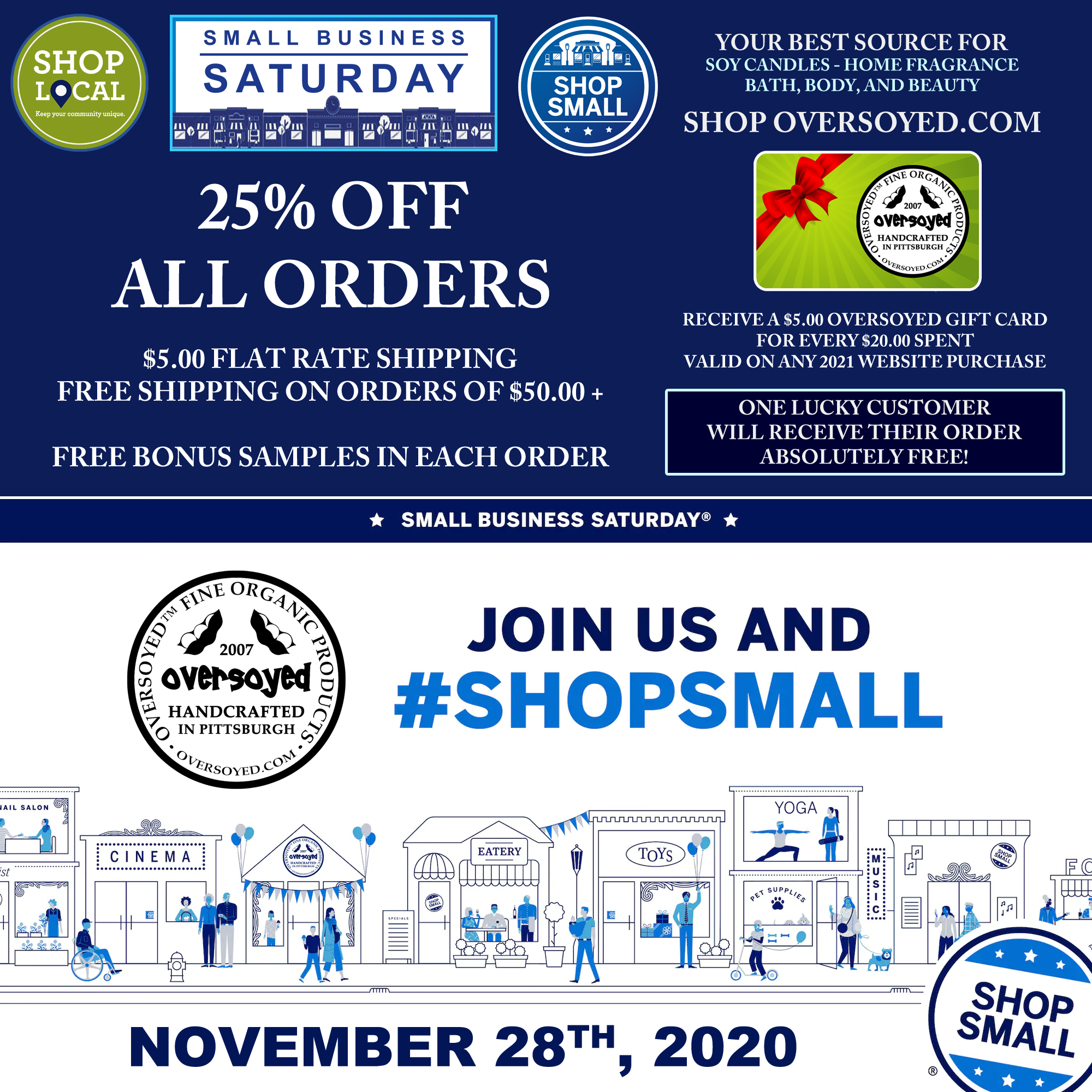 OverSoyed Fine Organic Products - Small Business Saturday