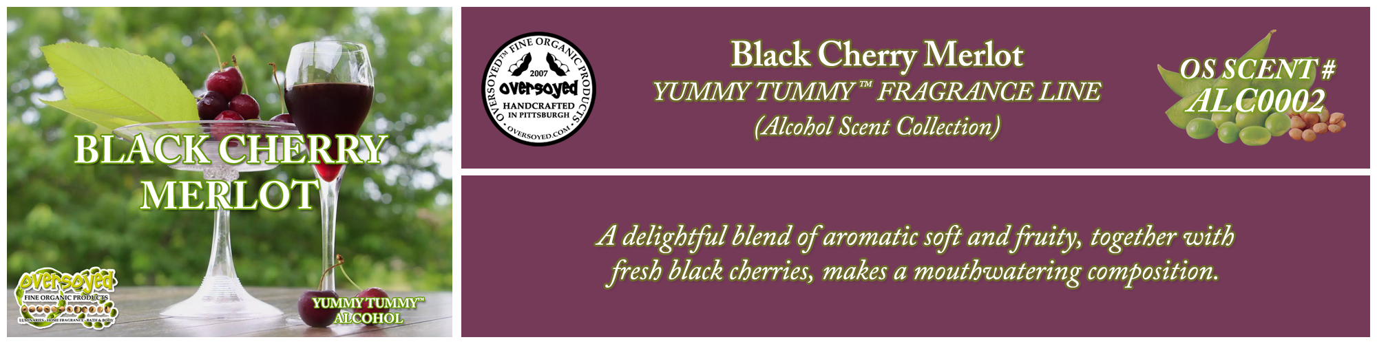 Black Cherry Merlot Handcrafted Products Collection