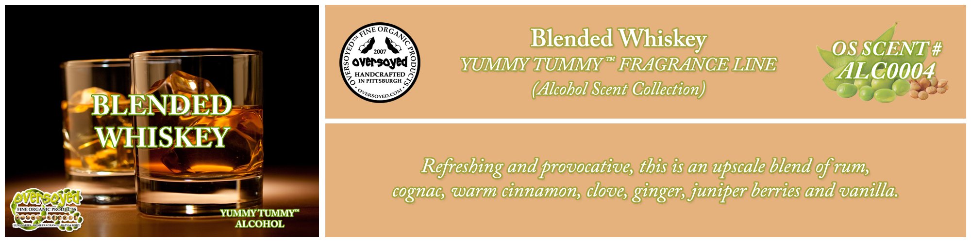 Blended Whiskey Handcrafted Products Collection