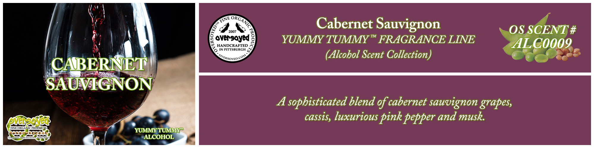 Cabernet Sauvignon Handcrafted Products Collection