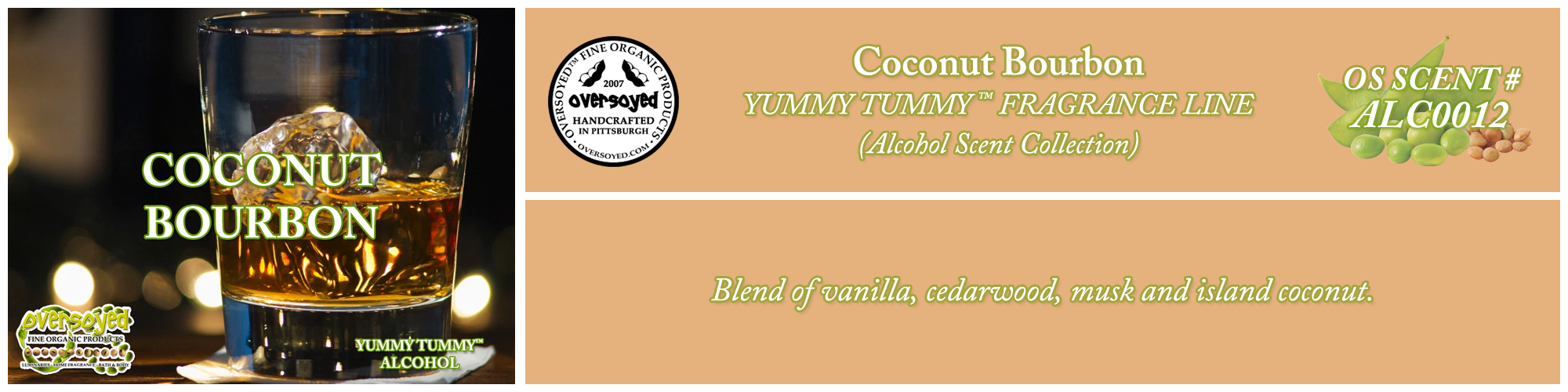 Coconut Bourbon Handcrafted Products Collection