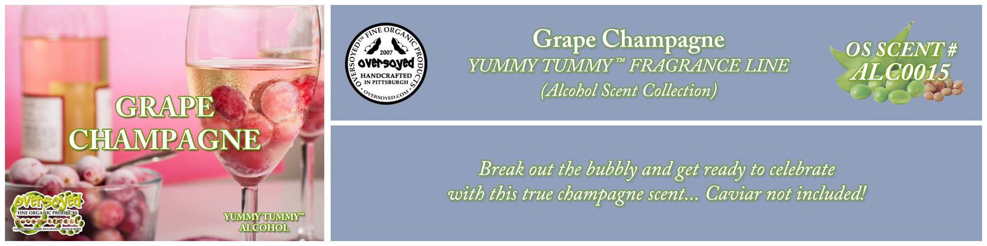 Grape Champagne Handcrafted Products Collection