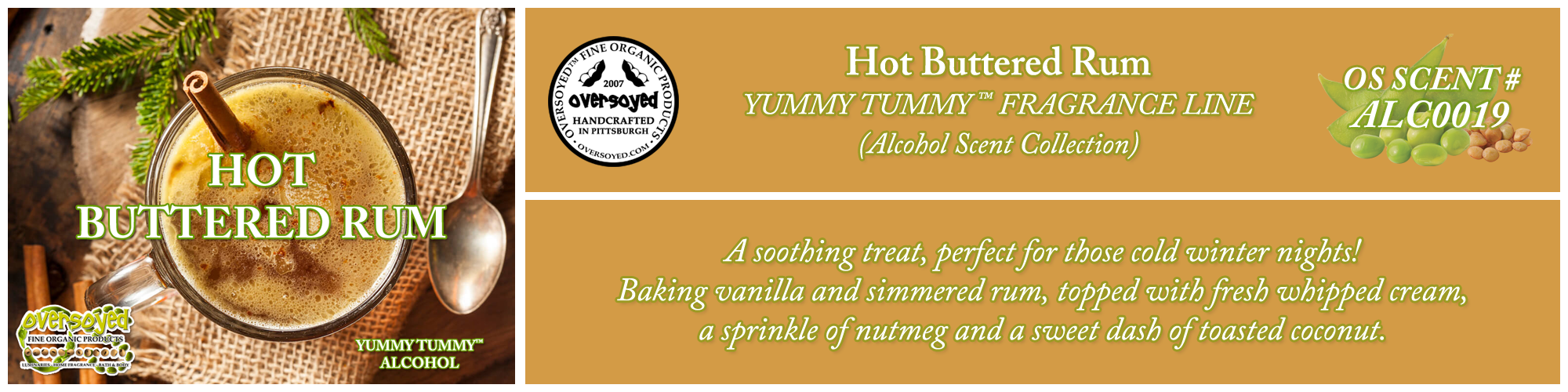 Hot Buttered Rum Handcrafted Products Collection