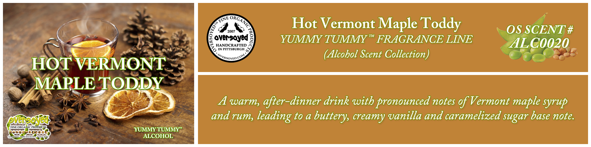 Hot Vermont Maple Toddy Handcrafted Products Collection