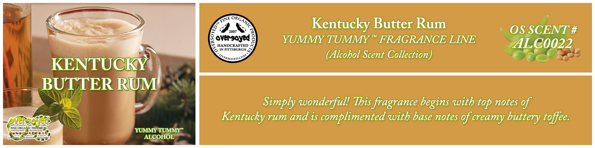 Kentucky Butter Rum Handcrafted Products Collection