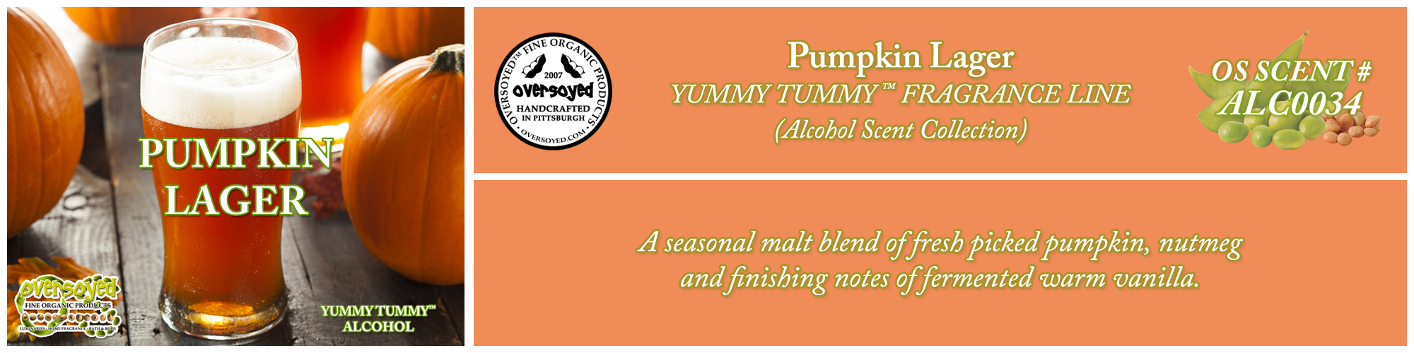 Pumpkin Lager Handcrafted Products Collection