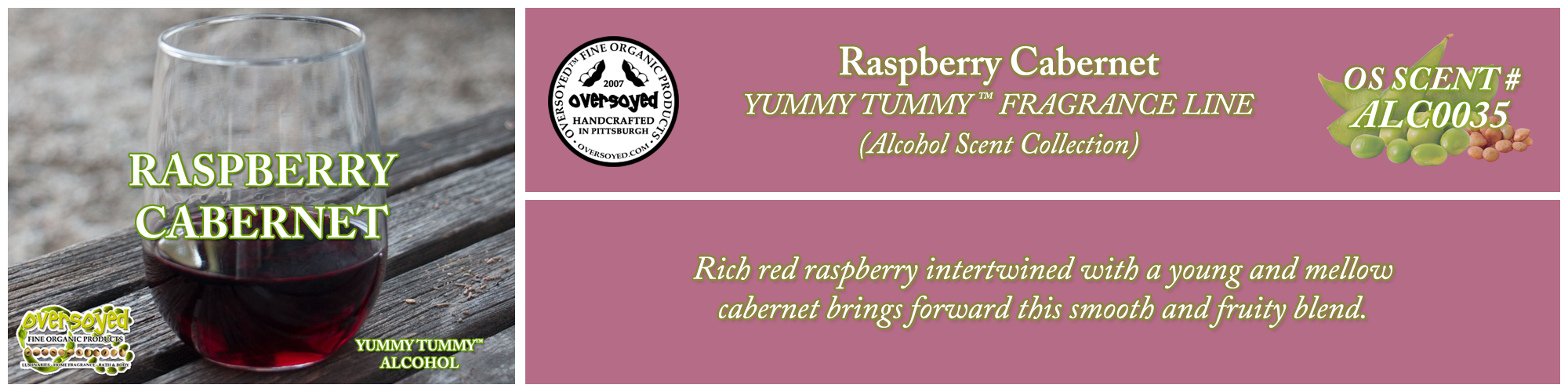 Raspberry Cabernet Handcrafted Products Collection