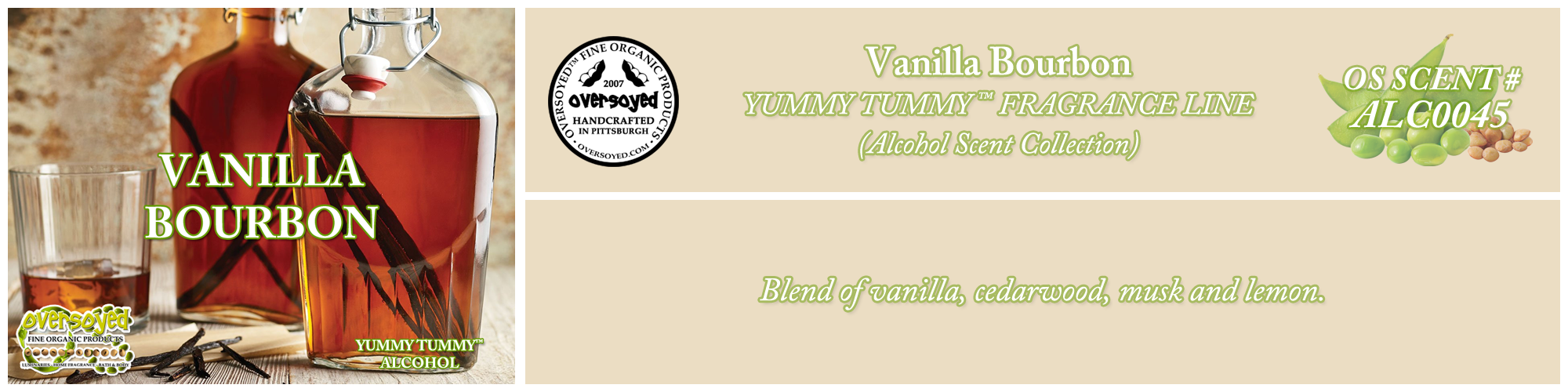 Vanilla Bourbon Handcrafted Products Collection
