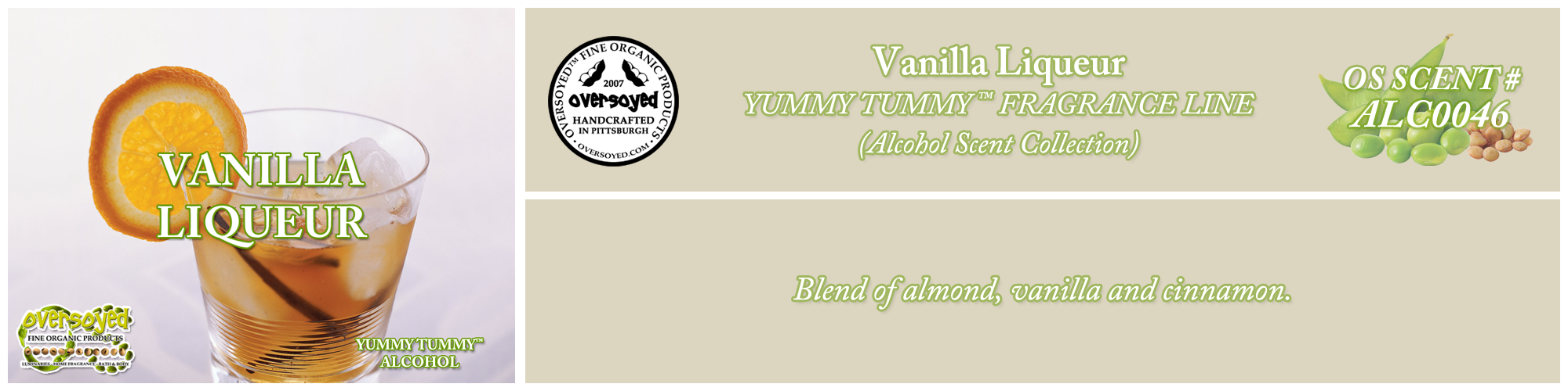 Vanilla Liqueur Handcrafted Products Collection