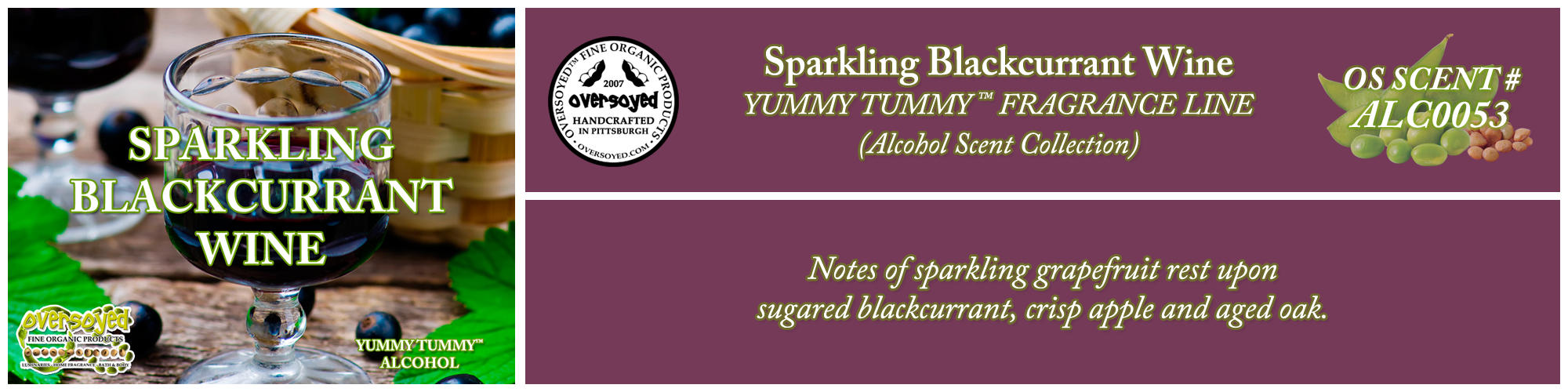 Sparkling Blackcurrant Wine Handcrafted Products Collection
