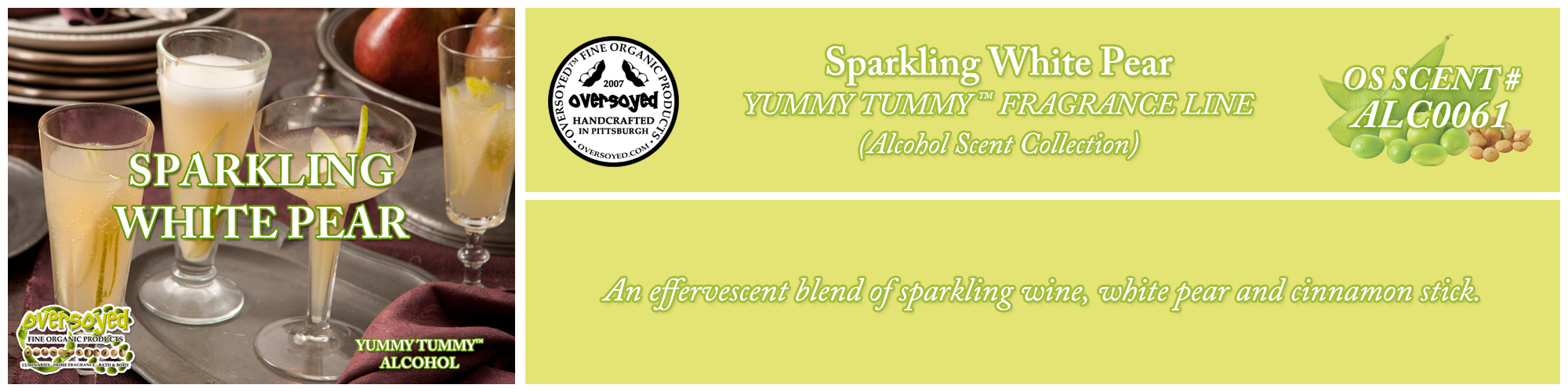Sparkling White Pear Handcrafted Products Collection