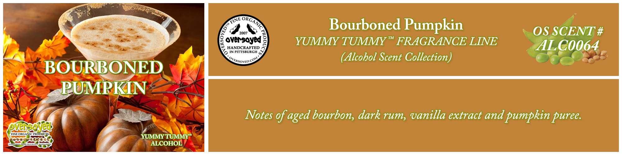 Bourboned Pumpkin Handcrafted Products Collection